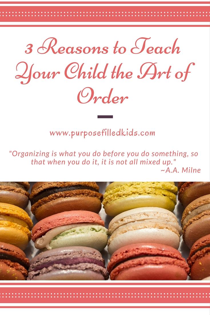 Outward order brings inward peace. (1)