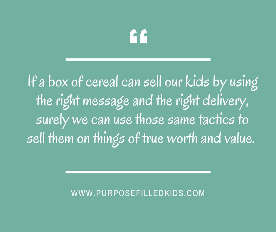 cereal can sell our kids